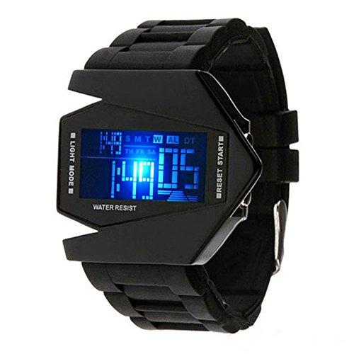 Kids Digital Sport Watch Warcraft Fighter Multi Function LED 50M Outdoor Waterproof Electronic Analog Quartz Silicone Wrist Watches for Kids Toddler Boys Girls Children