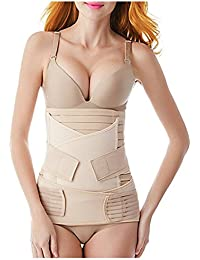 60bb4e1d38c 3 in 1 Postpartum Belly Wrap Postpartum Girdle Belt Support Recovery Corset Shapewear  Belly Waist