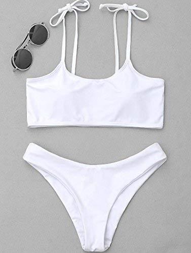Bikini Large Bain Européen Et Taille Le Zhrui De Bikini pure Américain Colored Blanc En Noir coloré Maillot Sling xn0g7qwa