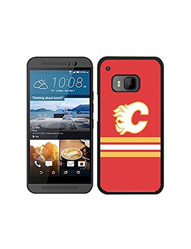 fan products of Attractive NHL Logo Case for Htc One M9 Case, Calgary Flames Ice Hockey Team Logo Shockproof Phone Accessory for Htc One M9 Case NHL