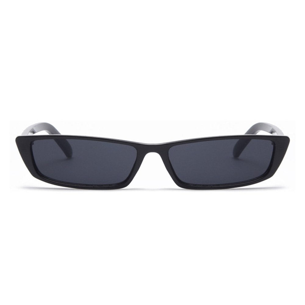 Gobiger Rectangle Small Frame Sunglasses Fashion Designer Square Shades for women (Black Frame, Black) by GOBIGER
