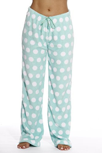 6339-10191-M Just Love Women's Plush Pajama Pants - Petite to Plus Size Pajamas,Dot - Mint / White,Medium (Fun Pants Pajama)