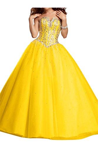 Duchesse amp;Tuell Damen Schnuerung Promkleid Satin Golden Ivydressing Linie Lang Abendkleider Festkleid nESXwTXqx