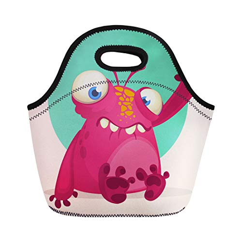 Semtomn Lunch Bags Colorful Character Happy Cartoon Alien
