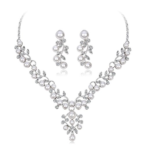 - Women's Jewelry Sets, Hmlai HML-05 Glamorous Alloy Rhinestone Glass V-Necklace Earrings Pendants Set Wedding Bride Jewelry Gift