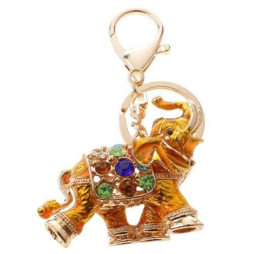 Amazon.com: Llavero con diseño de elefante y diamantes de ...