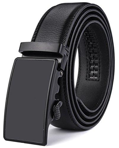 Xhtang-Ledergürtel Herren Automatik Gürtel mit Automatikschließe-3,5cm Breite S