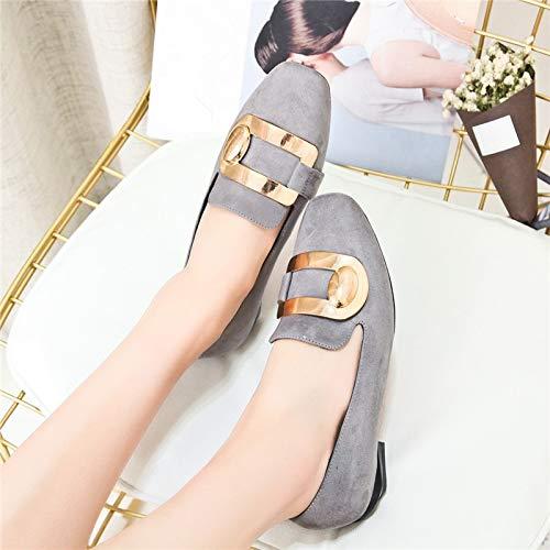 Dames Chaussures Pompes Talons Femme LIANGHUA Mode De Style Rue Orteil Printemps Chaussures De Femmes Chaussures Cuir Classice Solide Hauts Automne PU Carré wxqSCx4U