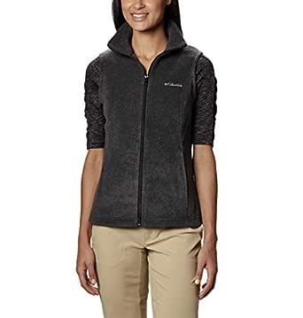 Columbia Women's Benton Springs Vest Outerwear, Charcoal Heather, XS
