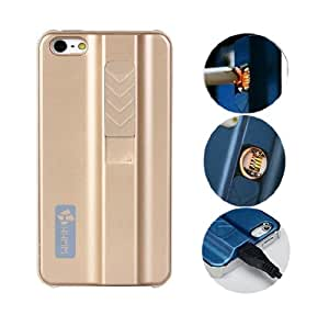 ONG New Sleek Protective Case with Built-in No-flame Lighter Cigarette Lighter Pc Hard Cases for Iphone 4 4s?gold?