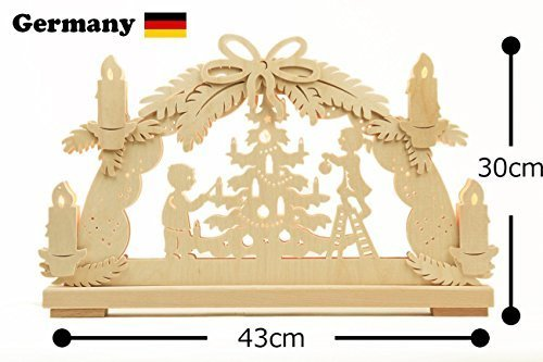 Ratakkusu Gerhard VIP Bogen arched candle stand Christmas tree made in Germany J 9990-232