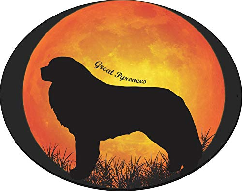 Rikki Knight Great Pyrenees Dog Silhouette by Moon Design 8