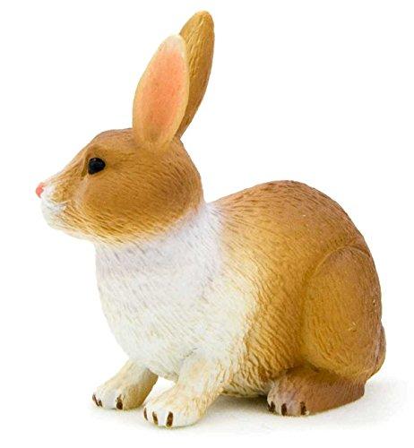 Mojo Fun 387030 Brown and White Rabbit Replica / Toy ()