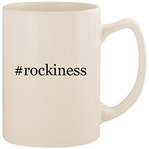 #rockiness - White Hashtag 14oz Ceramic Statesman Coffee Mug Cup]()