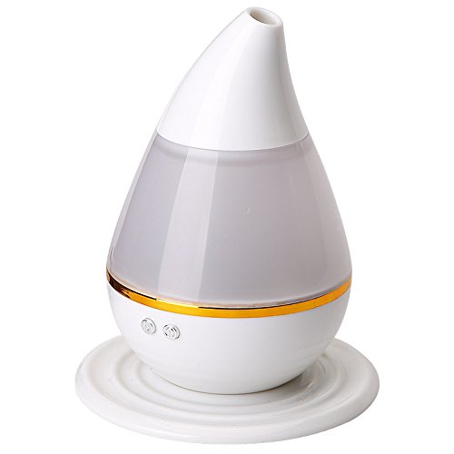 White Efrain Pedregondsfsdf Water Droplets USB Humidifier Seven Color Night Light Humidifier Air Purifier Aroma Diffuser