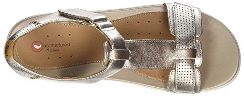 Clarks Dame Un Haywood T-spangen Sandalen Guld (guld Metallic) uwikj4Gpj
