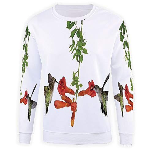 Nectar Vineyards (iPrint Unisex 3D Fashion Digital Graphic Print,Hummingbirds Decor,Pullover Ho)