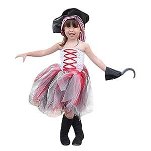 Disfraz de pirata para niña, de 2 a 7 años, para cosplay de ...