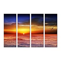 SAF SUNRISE SPECIAL LARGE 4PANEL PAINTING Ink Painting  (24 inch x 36 inch)