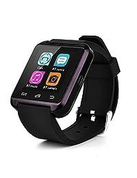 Yuntab U8 SmartWatch Bluetooth 3.0 Silicone Wristband for Android/iOS Samsung/HTC (Black)