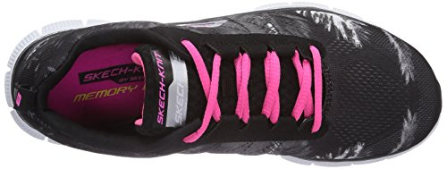 Skechers Flex Appeal Trade Winds Damen Sneakers Schwarz (Bkhp)