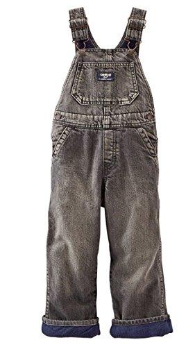 Oshkosh B'gosh Baby Boys Fleece-Lined Overalls - Black Denim (6 Months)