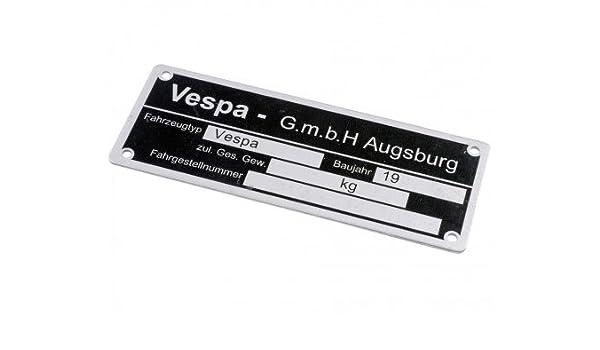 Tipo Cartel Vespa GmbH Augsburg, para Vespa todos DT ...