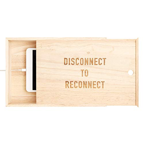 Wooden Mobile Phone Box for Your Smart Phone to Digital Detox ()