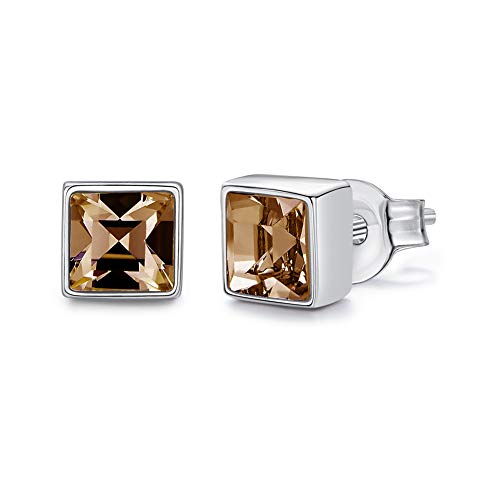 SNOWH Womens Stud Earrings, Fashion Jewelry Gifts Cubic Zrconia CZ Earrings Made Swarovski Crystals Rhinestone Earrings for Women Mom Girls Birthday Wedding Prom ()