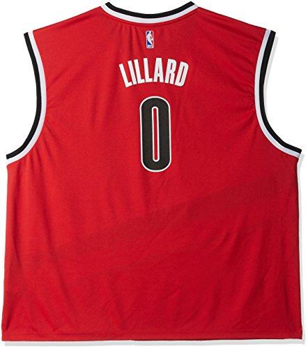 NBA Men's Portland Trail Blazers Damian Lillard Replica Player Home Jersey, 4X-Large, Red