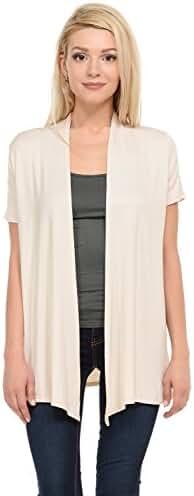 Pastel by Vivienne Women's Short Sleeve Open Front Vest (15+ Colors / S-3XL)