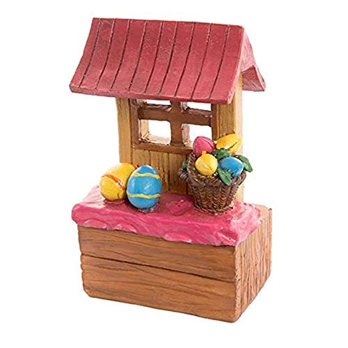 Basket Tulip - ghi Easter Egg Stand with Basket of Tulips Resin Tabletop Collectible Decoration