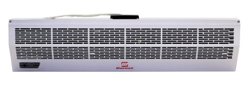 48 Inch Maxwell Commercial Industrial Air Curtain Hot Storm Series with Electric Heater 220v by Maxwell