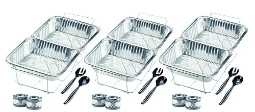 Sterno Products 24-Piece Disposable Party Set (Holder Pan Chafing)