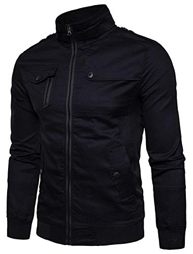 Jacket Giacche color Saoye Capispalla Harrington black Da S Basic Lunga Urban Manica 5 Giovane Fashion Bomber Baseball Size Hip Hop zzcqw8Zr