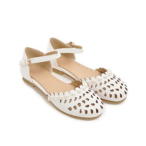Sandales 5 Compensées Femme Blanc Blanc 36 AdeeSu UdzqU