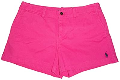 "Ralph Lauren Polo Sport Womens Shorts 3.5"" Pony Logo Active Pink"