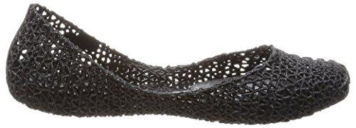 Melissa Dames Campana Papel Vii Gesloten Flat Black (zwarte Glitter 52682)