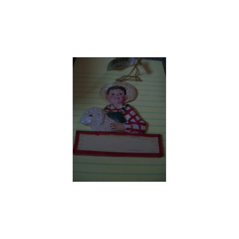 Kurt Adlers 4h Christmas Ornament Girl W/lamb, Boy W/pig, Boy w/ Horse