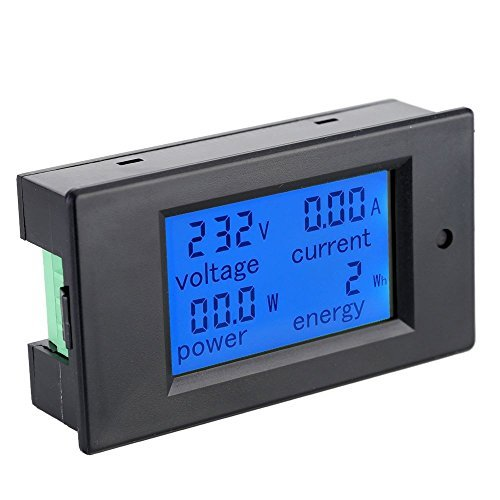 Gocheer Volt Amp Meter AC80-260V 20A Digital LCD Current Voltage Active Power Energy Detection Meter Ammeter Voltmeter charger doktor Multi-functional Meter
