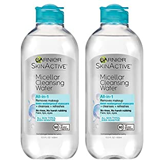 Garnier SkinActive Micellar Cleansing Water, For Waterproof Makeup, 13.5 Fl Oz, 2 Count