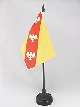 AZ FLAG Bandera de Mesa de Lorena 15x10cm - BANDERINA de DESPACHO DE Lorraine - Francia 10 x 15 cm
