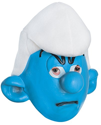 Rubie's Costume Smurfs: The Lost Village Child's Grouchy Smurf Mask, One (Halloween Smurfs)