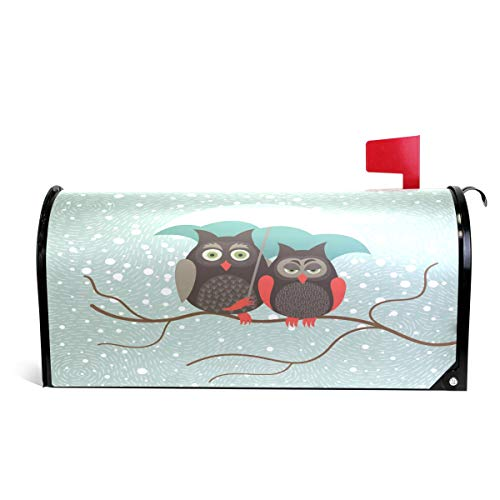 WOOR Winter Owls Snow Magnetic Mailbox Cover Oversized-20.8''x 25.5'' by Alaza(mailbox cover)