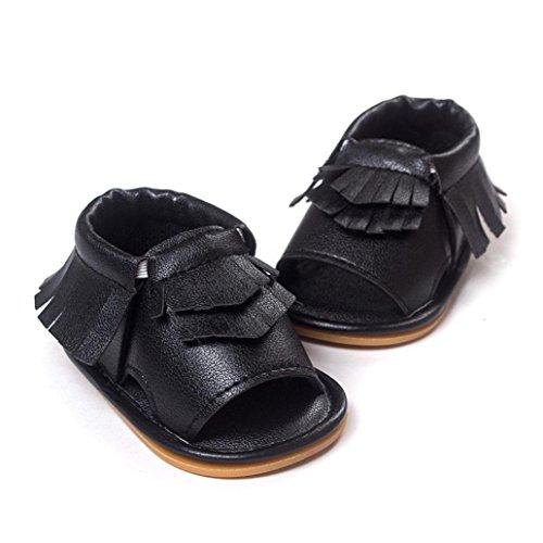 Zapatos de bebé,Xinantime Borla las Sandalias Primeros Caminante (11, Verde) Negro
