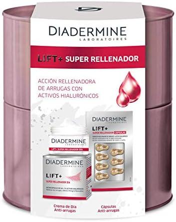 Diadermine - Lata Navidad - Lift+ Super Rellenador - 1 Crema de Día Anti-Arrugas 50ml + 7 cápsulas anti-arrugas