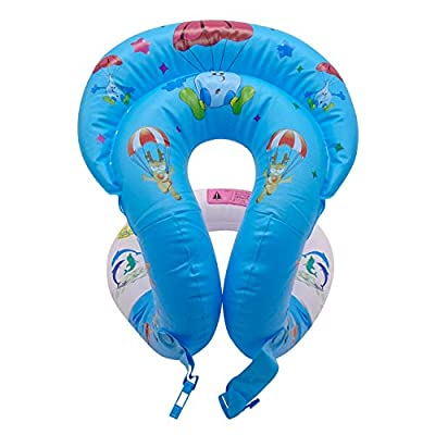 veZve Swim Ring Portable Inflatable Kid's Learn to Swim Vests Pool Float Swimming Lap for Kids Age 8+ Girls and Boys: Toys & Games