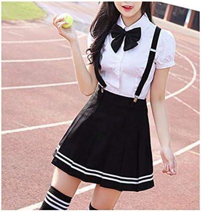 Tops+Skirt+Tie Japanese College School Girl Student Uniform Sailor Suit Dress