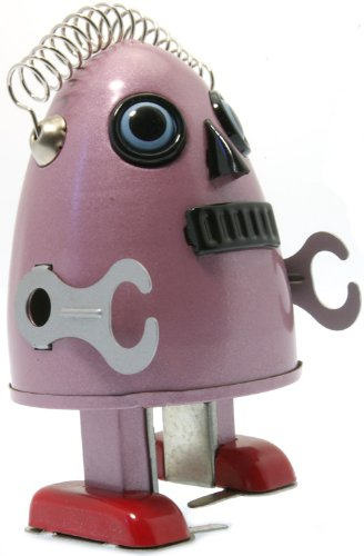 Jesters Egg man tin wind up robot Purple mechanical clockwork retro tin toy replica Jesters Toys and Games Bms649p