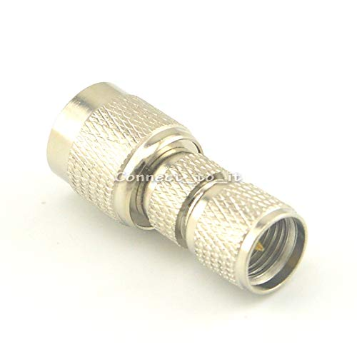 Gimax Nickel Plated TNC Male to Mini UHF Male Straight Connector RF Coax Adapter